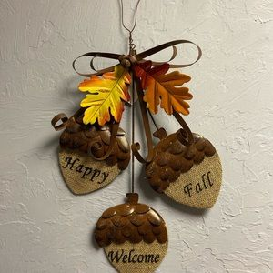 Other - 🌿🌱🍃Metal Fall Acorn Welcome sign Fall decor🌿☘️